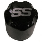 CENTER CAP, GLOSSY BLACK SS SNAP-IN