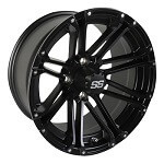 14x7 Matte Black SS Voyager Wheel (3:4 Offset)