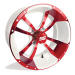12x7 Red /  White SS Storm Trooper Wheel ET-15 (3:4 Offset)