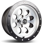 12x7 Rally Wheel (Machined Silver /  Black Finish)