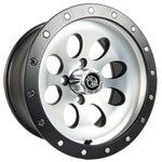 14x7 Rally Wheel (Machined Silver/ Black Finish)