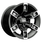 12x7 Brute Machined/ Black Wheel (3:4 Offset)