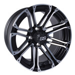 12x7 Voyager Machined/ Black Wheel (3:4 Offset)