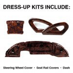 Club Car Precedent Professional Burlwood Dress-up Kit (Fits 2004-2008)