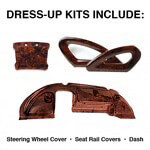 Club Car Precedent Professional Burlwood Dress-up Kit (Fits 2008-Up)