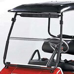 Clear Club Car DS Hinged Windshield W/  Black Hinge - 1/ 4'' (Fits 2000-Up)