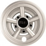 "8"" Silver Metallic ""SS"" Wheel Cover"