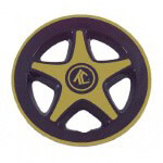"8"" Black & Gold 5-Spoke Wheel Cover"