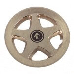 "8"" Gold 5-Spoke Wheel Cover"