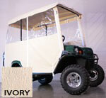 3-SIDED OVER-THE-TOP ENCLOSURE FOR EZGO TERRAIN(IVORY COLOR)