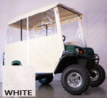 3-SIDED OVER-THE-TOP ENCLOSURE FOR EZGO TERRAIN(WHITE COLOR)