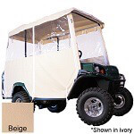 3-SIDED OVER-THE-TOP ENCLOSURE FOR EZGO L4/ S4 4-PASSENGER W/ FACTORY TOP(BEIGE COLOR)