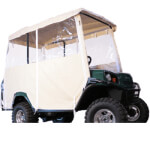3-SIDED OVER-THE-TOP ENCLOSURE FOR EZGO L4/ S4 4-PASSENGER W/ FACTORY TOP(IVORY COLOR)