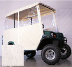 3-SIDED OVER-THE-TOP ENCLOSURE FOR EZGO L4/ S4 4-PASSENGER W/ FACTORY TOP(WHITE COLOR)