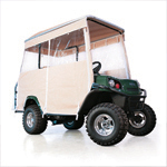 E-Z-GO Beige 3-Sided Track Style Enclosure W/ Factory Top (Fits L4/ S4)
