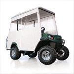 E-Z-GO White 3-Sided Track Style Enclosure W/ Factory Top (Fits L4/ S4)