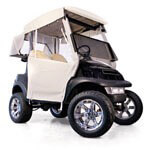 3-sided Over-the-top Enclosure For EZGO TXT T48(ivory)