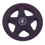 "8"" Black 5-Spoke Wheel Cover"