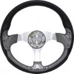 "E-Z-GO Pursuit 14"" Carbon-Fiber Steering Wheel W/  Kit (Fits 1975-Up)"