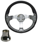 "Yamaha Pursuit 14"" Carbon-Fiber Steering Wheel W/  Kit (Models G1-G29/ DRIVE)"