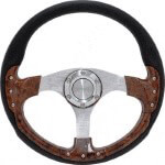 "Yamaha Pursuit 14"" Wood Steering Wheel W/  Kit (Models G1-G19)"