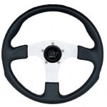 "13.5"" GT Black Grip /  Silver Spoke - Steering Wheel (Universal Fit)"