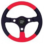 "GT Sport 13"" Red Grip /  Black Center Steering Wheel (Universal Fit)"