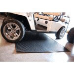 4' X 8' Black Ribbed Garage Mat (Universal Fit)
