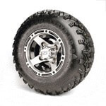 Set Of (4) 8'' Ranger Wheels On A/ T Tires (No Lift Required)
