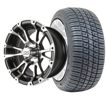 set of 4 12 typhoon wheels on low pro street tires no lift required. Black Bedroom Furniture Sets. Home Design Ideas