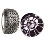 "Set Of (4) 12"" Typhoon Wheels & A/ T Tires (Lift Required)"