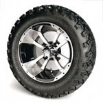 Set of (4) 12 inch GTW Storm Trooper Wheels Mounted on A/ T Tires (Lift Required)