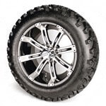 "Set Of (4) 14"" Tempest Wheels On A/ T Tires (Lift Required)"