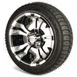 Set of (4) 12 inch GTW Vampire Wheels Mounted on Lo-Pro Street Tires