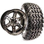 Set of (4) 14 inch Dominator Wheels on All-Terrain Tires (Lift Required)