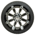 Set Of (4) 14'' Tempest Wheels On Lo-Pro Tires (Lift Required)
