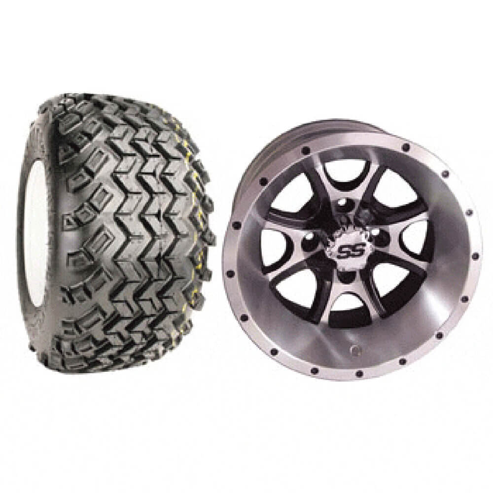 """Tremors 4 12: Set Of (4) 12"""" Tremor Wheels & A/T Tires (Lift Required"""