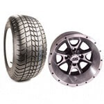 "Set Of (4) 12"" Tremor Wheels On Lo-profile Tires (No Lift Required)"
