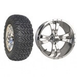 "Set Of (4) 14"" Twister Wheels On A/ T Tires (Lift Required)"