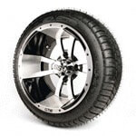 Set of (4) 12 inch GTW Storm Trooper Wheels Mounted on Lo-Pro Street Tires