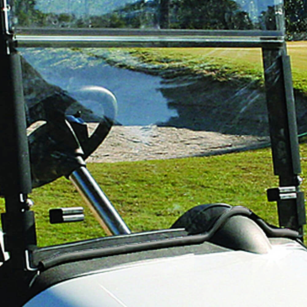 Clear E Z Go Rxv Folding Windshield With Rubber Trim Fits