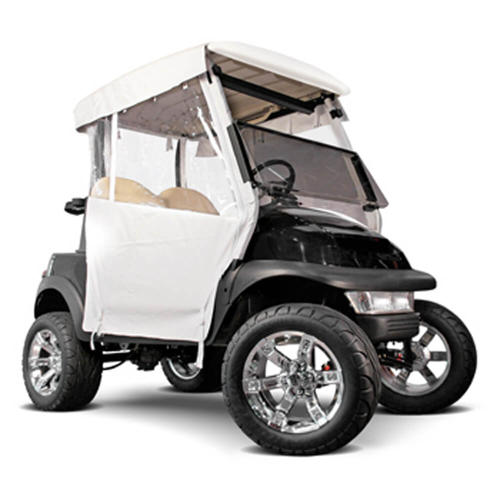 White 3 Sided Straight Back Over The Top Club Car Ds