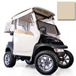 Club Car DS Beige 3-Sided Track Style Enclosure (Fits 2000-Up)