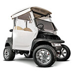 White 3-Sided Straight Back Track-Style E-Z-GO TXT Enclosure (Fits 1994-Up)