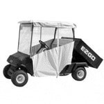 "3-sided Over-the-top Enclosure For EZGO 4-caddy W/ 80"" Top(white)"