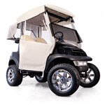 3-sided Over-the-top Enclosure For EZGO RXV W/ New Style Top(ivory)