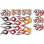 Decal Kit- Orange & Yellow Flames
