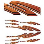 Earth Tone Racing Squiggle Decal Kit (Universal Fit)