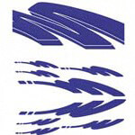 Blue Racing Squiggle Decal Kit (Universal Fit)