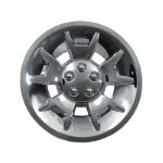10″ Silver Metallic Demon Wheel Cover